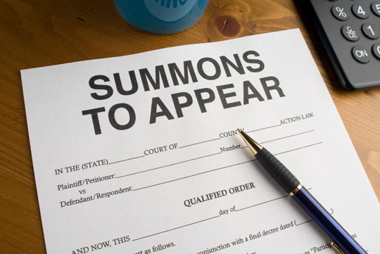 Summons to appear - Process Server Manchester