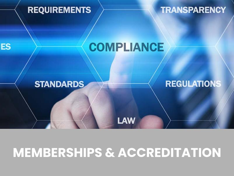 Investigators Accreditation & Memberships